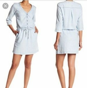 MICHAEL STAR Small Light Blue Denim Mini Dress
